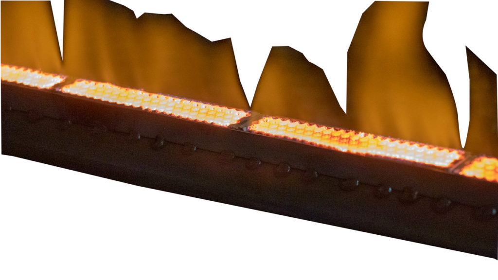gas fired radiant heater for food processing