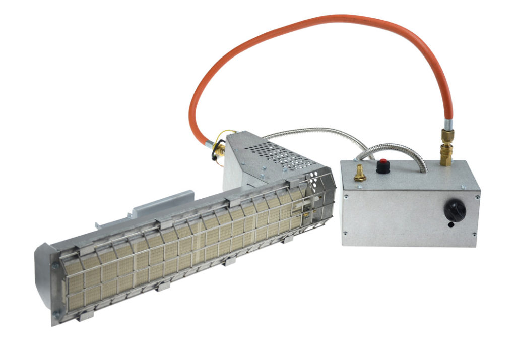 plaque gas radiant heater for cast iron drying
