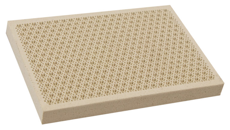 ceramic tile for high efficient gas fired heater