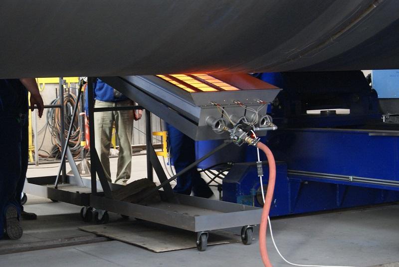Promiennik gazowy wykorzystywany do spawania grubych blach